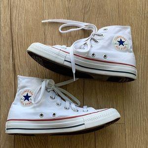 Converse All Stars White High Tops, 5.5